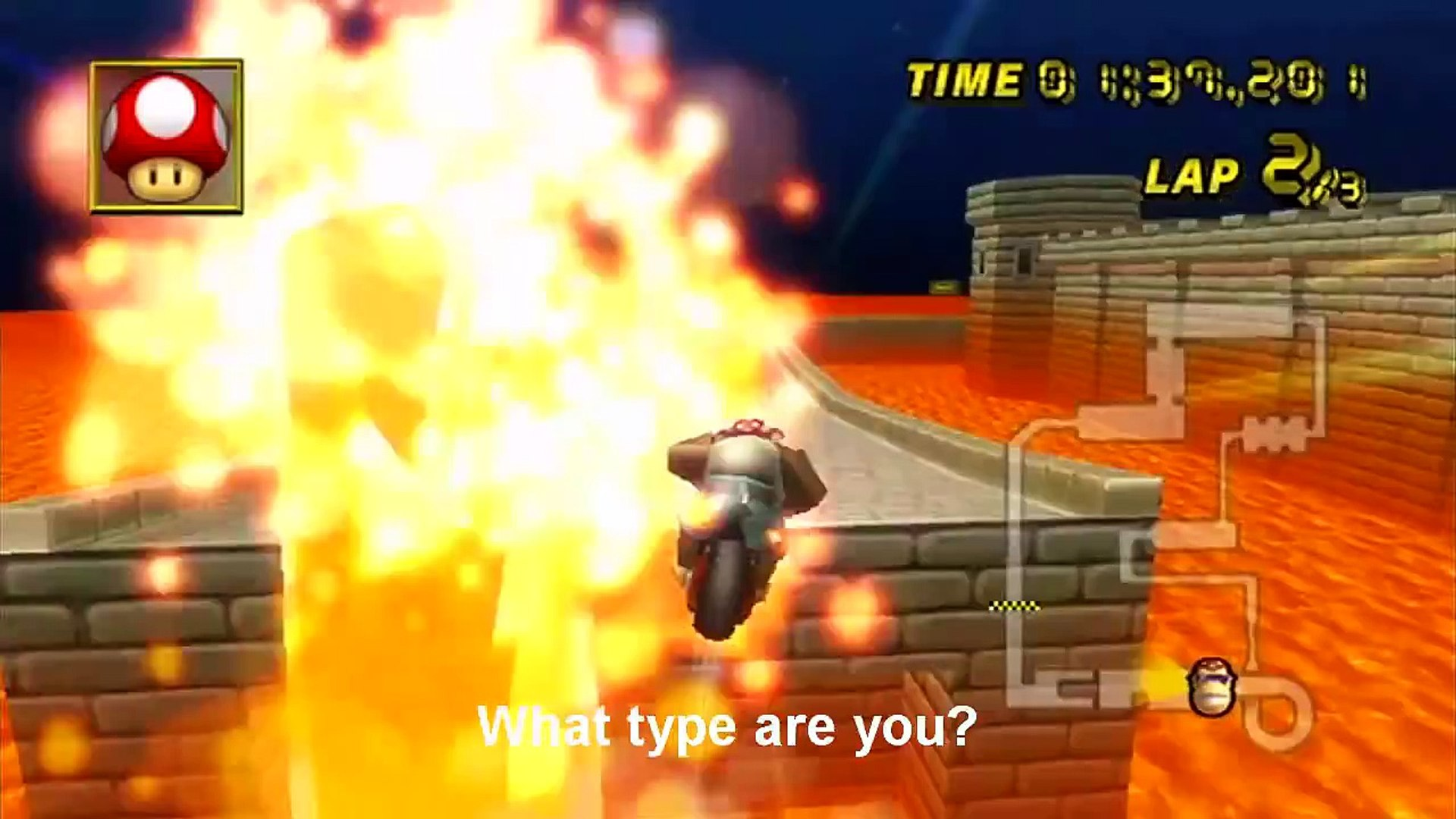 Mkwii Which Type Are You 1 N64 Bowser S Castle Video