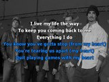 Backstreet Boys - Quit playing games with my heart karaoke