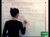Système de deux équations à deux inconnues