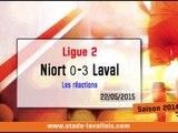 (J38) Niort 0-3 Laval, réaction de D. Zanko