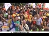 Fiesta de Bienvenida JMJ Madrid 2011 en Cibeles con Benedicto XVI