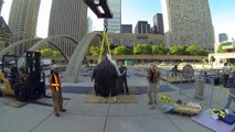 Ai Weiwei's 'Circle of Animals/Zodiac Heads' in Nathan Phillips Square, Toronto