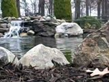 Large Koi Pond Installation with Double Waterfalls in East Hanover, New Jersey