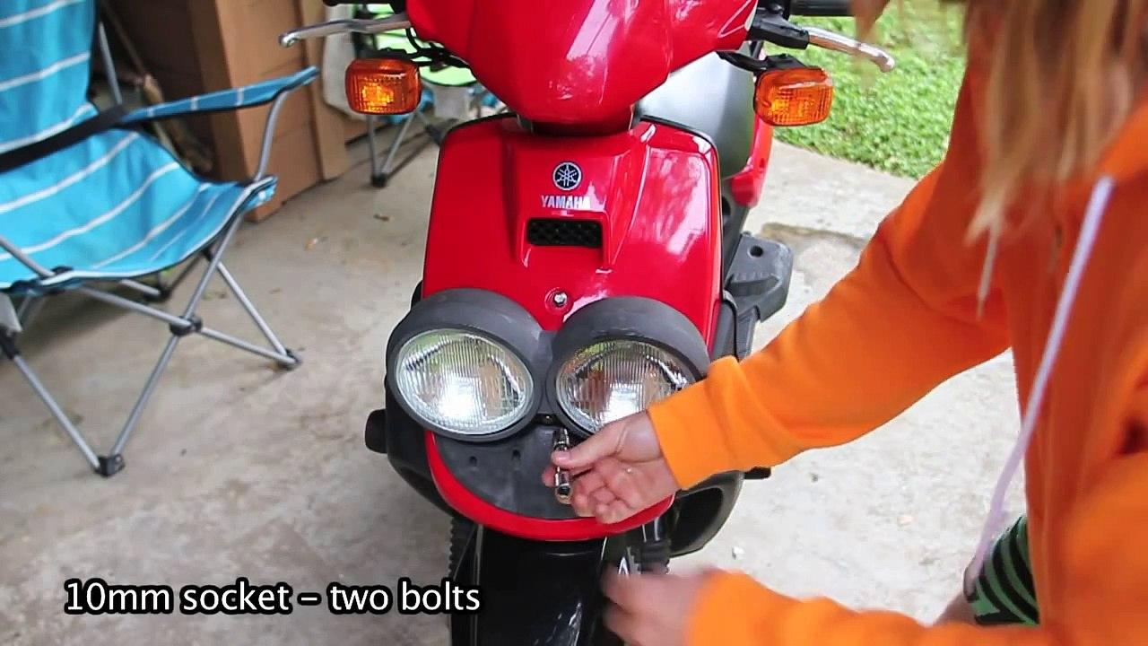 Yamaha Zuma (BWS) 50cc Headlight Mod - works for 125cc too