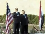 George Bush Shoe Attack - Reporter throws shoes at President during Iraq press conference