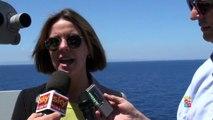 #MareNostrum, intervista al ministro della salute Lorenzin a bordo di nave Etna