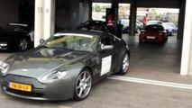 Aston Martin Vantage, Audi R8, Tesla Roadster and Ferrari Accelerating!!!