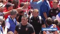 RCT-Oyonnax: Arrivée des Toulonnais à Mayol