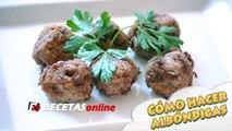 Cómo hacer albóndigas caseras - Recetas de cocina RECETASonline