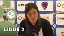 Conférence de presse Clermont Foot - Stade Brestois 29 (1-0) : Corinne DIACRE (CF63) - Alex  DUPONT (SB29) - 2014/2015