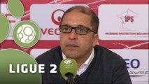 Conférence de presse Dijon FCO - AS Nancy-Lorraine (3-1) : Olivier DALL'OGLIO (DFCO) - Pablo  CORREA (ASNL) - 2014/2015