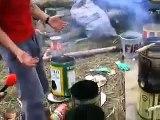 Climate Camp renewable energy - rocket stove