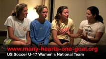 US Soccer U-17 WNT interview with Haeberlin, Brian and Torres
