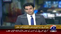 Geo News Headlines 24 May 2015_ Strike of MQM on Water Shortage on Karachi Press
