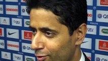 Réaction de Nasser AL KHELAIFI en zone mixte après PSG-Reims (3-2)