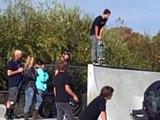 Tony Hawk At White Rock RI Riley hurts wrist