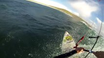 Big Wave Kiting Tiree Scotland - Kitesurfing extreme waves - Kiteboarding - GoPro - My Kite Minute