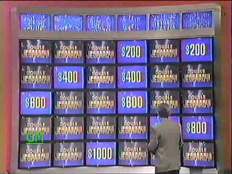 Jeopardy! (GMTV, 2011) Выпуск от 14 декабря 1992 г.: Шерил - Эллен - Пол