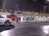 Silver 9 second evo vs turbo CRX at Bandimere