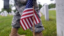 228,000 Flags Placed Next To Headstones As Part Of Memorial Day Tradition