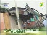 Vientos huracanados destruyeron viviendas en Tarapoto y causan temor entre pobladores