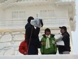 Japanese TV crew at Sapporo Snow Festival