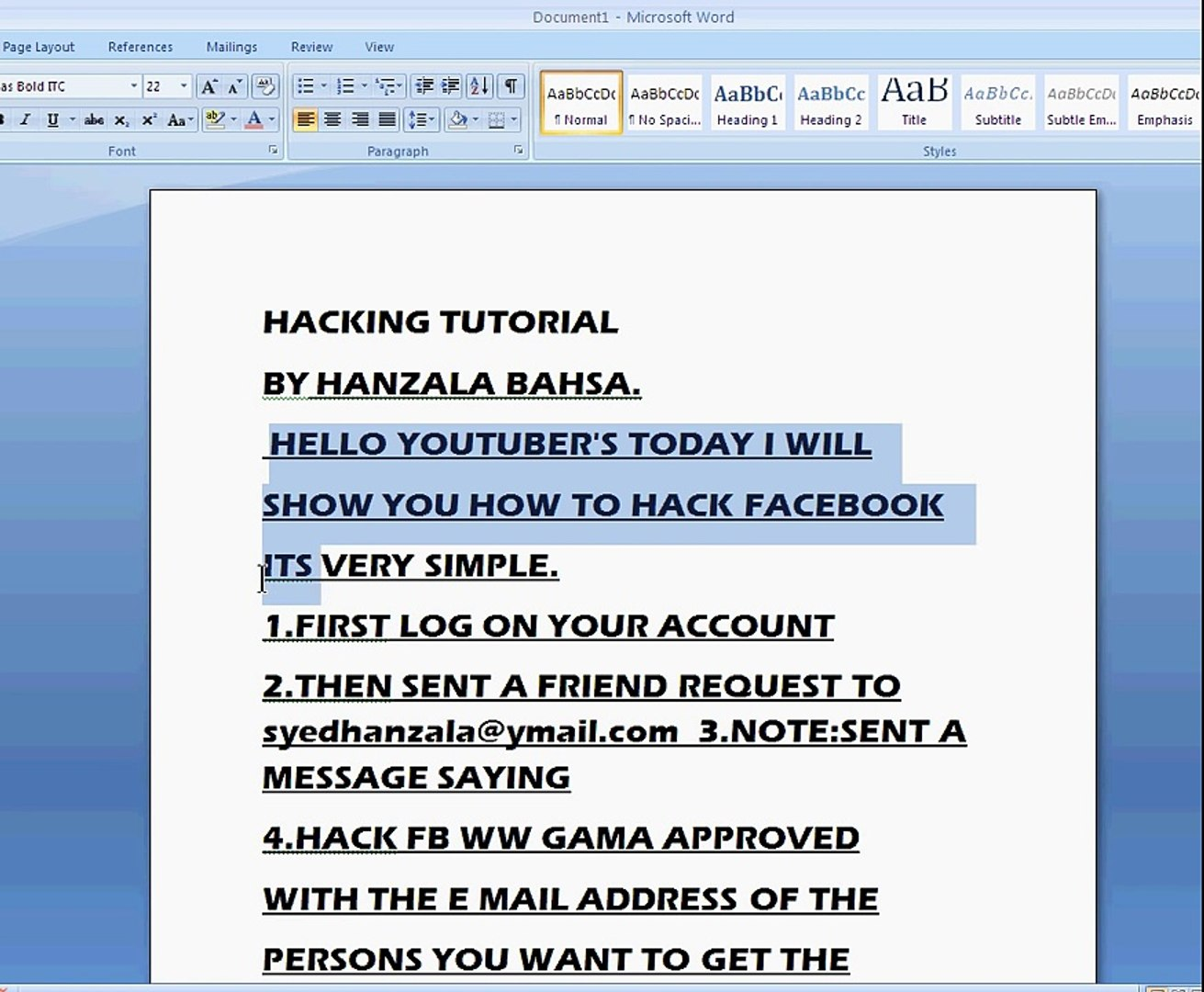 Hacking FB Tutorial Without software and phising But just by sending an  mail1avi