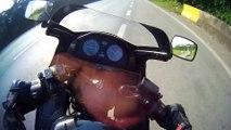 Il sort indemne d'un accident de moto à 200km/h en Honda CBX750