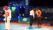 WTF World Taekwondo Championships Puebla 2013 male -63kg COL Vs MEX