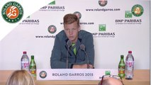 Press conference Tomas Berdych 2015 French Open Women's R128