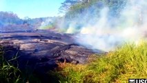 10/25/2014 -- New Hawaii lava flow video released by USGS -- Town of Pahoa threatened