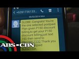 Globe files complaint against text spammer