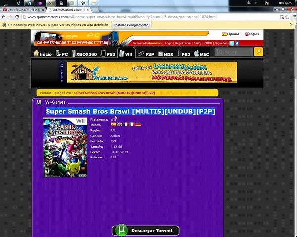 Como Descargar Super Smash Bros Brawl Como Acelerar El Dolpin Video Dailymotion