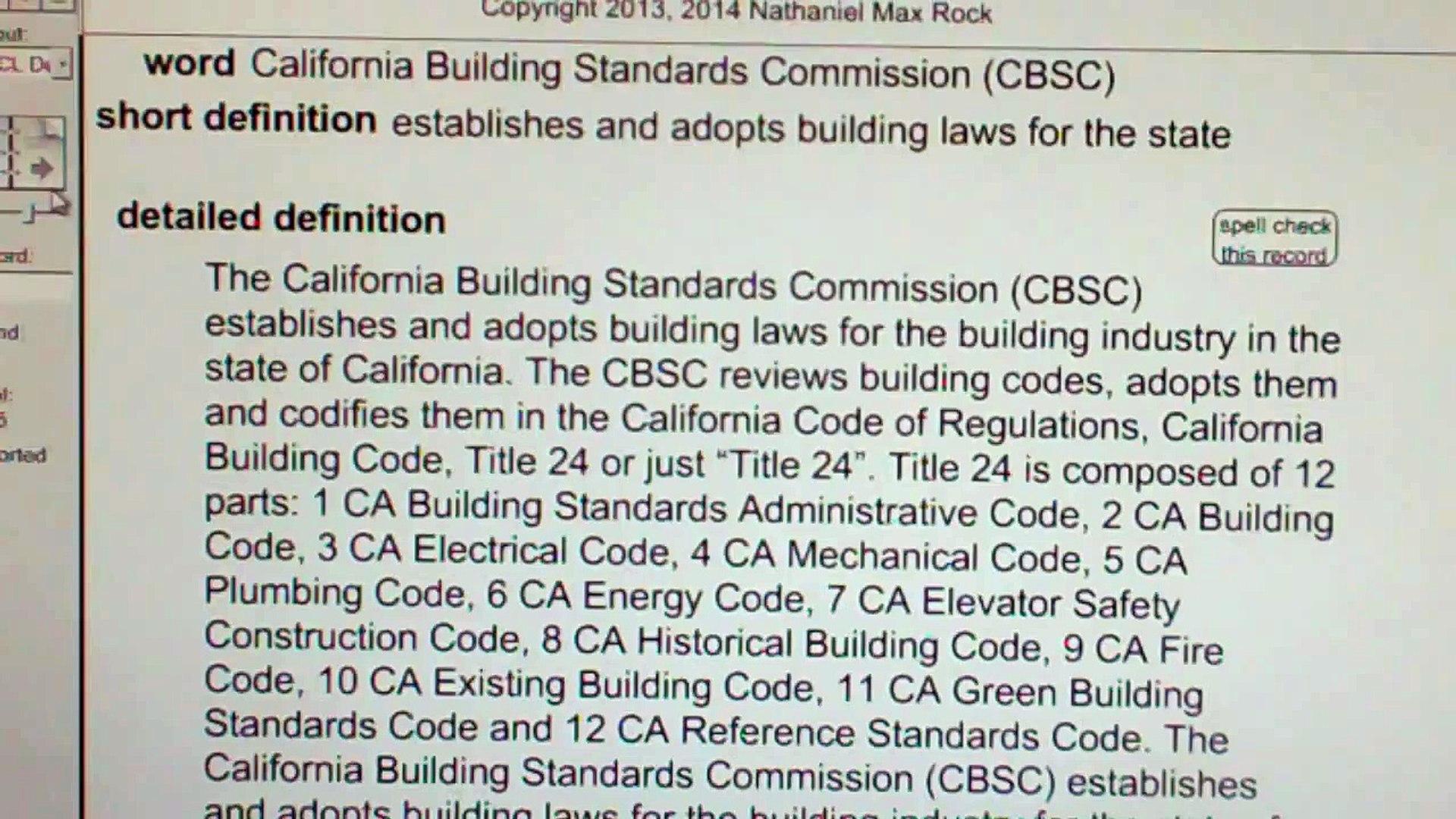 California Building Standards