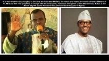 Fr Mbaka congratulates Gen Buhari, says his victory confirms him as a true prophet of God