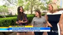 Sisters Separated as Kids Find Each Other in Columbia University Class