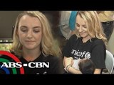 'Harry Potter' star Evanna Lynch visits Yolanda victims in Tacloban