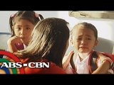 Kindergarten students cry as school starts