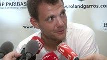 Tennis - Roland-Garros (H) : Paul-Henri Mathieu «Difficile de partir aussi vite»