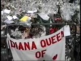 THE FLOWERS LAID FOR LADY DIANA