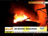 Fire razes 30 homes in Pasay