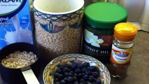Healthy recipe - Porridge with flaxseed and blueberries-Fit Food