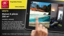 A vendre - maison - ONDRES (40440) - 6 pièces - 200m²