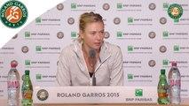 Conférence de presse Maria Sharapova - Roland Garros 2015 1er T