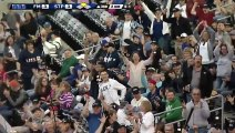Super Fan Catches Flying Baseball Bat With One Hand, Doesn't Spill One Drop Of His Beer