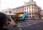 Dublin Bus and Luas crash on O'Connell Street 16/9/2008