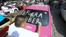 Mexico City Taxi Drivers Stage Mass Protest Over Uber