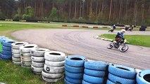"Historic moto cup ""Gold moped"".Zelta mopēds 2014. Biķernieku trasē.Rīga. 01.05.2014. 2.mob.video."