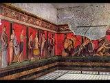 Villa de los misterios. Reconstrucción de la sala de los misterios dionisiacos.