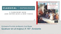 Wolfgang Amadeus Mozart : Quatuor en ut majeur, K 157 : Andante